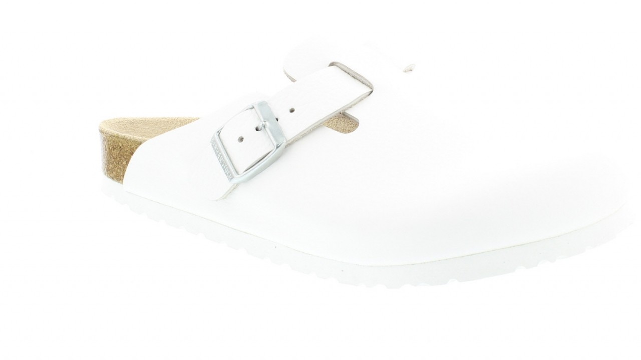 Boston White Leather