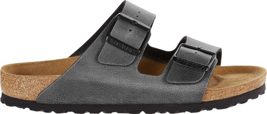 Birkenstock Arizona Pull Up Anthracite Vegan
