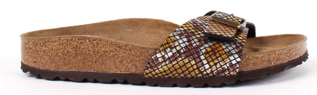 Birkenstock Madrid Python Brown