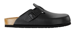 Boston Black Leather Soft Footbed