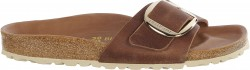 Birkenstock Madrid Big Buckle Cognac oiled leather