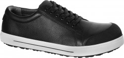 QS 500 Black regular Natural Leather steel toecap