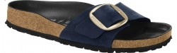 Madrid Big Buckle Blue Oiled Leather