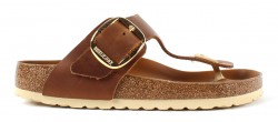 Birkenstock Gizeh Big Buckle Cognac Leather