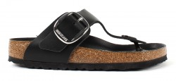 Birkenstock Gizeh Big Buckle Black Leather